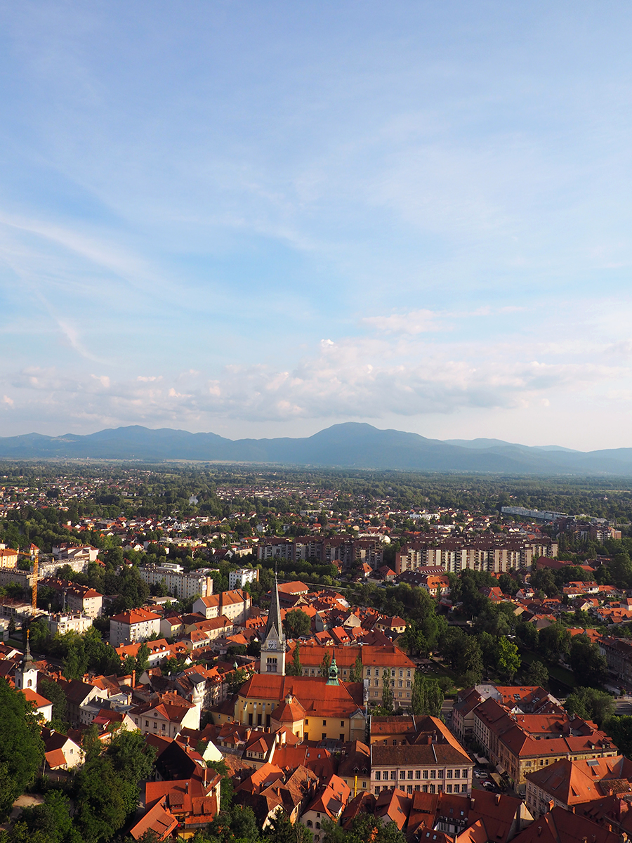 A view from Ljubljana Castle overlooking the capitol city in Slovenia.. | via Stay gold Autumn